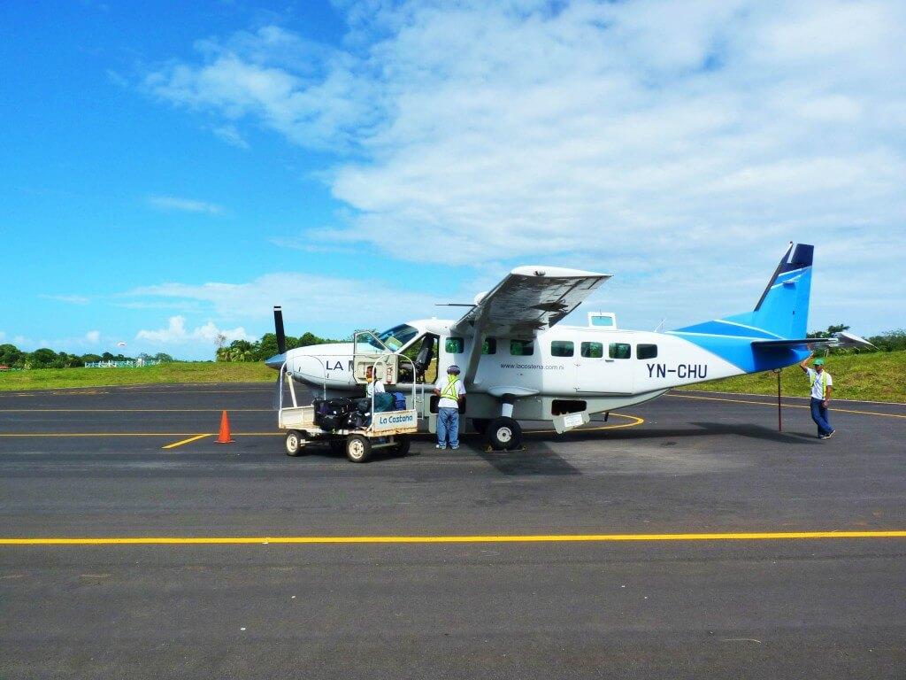 vliegtuig Little Corn Nicaragua